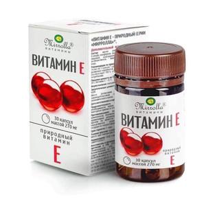 Vitamin E Đỏ Của Nga Mirrolla 270mg Hộp 30 Viên