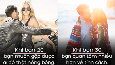 14 khác biệt khi yêu đương trong độ tuổi 20 và 30