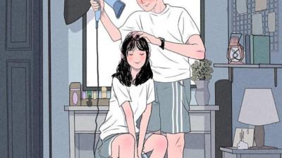 """Bộ tranh Hàn Quốc khiến ai cũng muốn có một người để """"yêu nhau, yêu nhau bình yên thôi"""""""