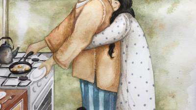"""Tan chảy trước bộ tranh """"một gia đình nhỏ, một hạnh phúc to"""", ai xem xong cũng ước ao nhà mình được như thế"""