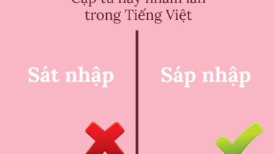 15 cặp từ dễ gây xoắn não nhất trong Tiếng Việt