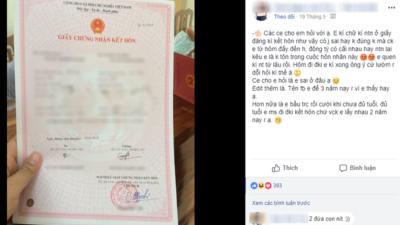 Chuyện vợ chồng trẻ con: Chồng trách vợ không nghiêm túc khi ký giấy đăng ký kết hôn chữ lí nhí, trong khi chồng ghi hẳn hình ngôi sao