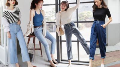 """Nàng nào chân ngắn thử ngay mấy dáng quần jeans này, nhìn cao thêm cả """"chục phân"""" chứ chẳng ít"""