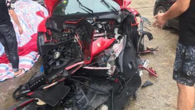 Tuấn Hưng tiết lộ thiệt hại của siêu xe Ferrari 16 tỷ đồng sau tai nạn vỡ nát đầu