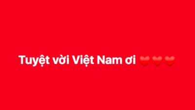 Dân mạng nhuộm đỏ Facebook với status ăn mừng chiến thắng của đội tuyển Việt Nam