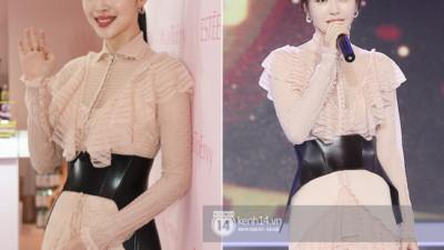 Diện chung váy sến với Tần Lam, Sulli rất xinh nhưng vẫn bị dìm vì một chi tiết
