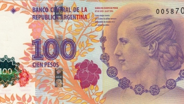 Kết quả hình ảnh cho Tờ tiền duy nhất của chính phủ Argentina có hình phụ nữ